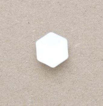 CP20-WHT-18 White 12mm Hexagon Buttons x 10