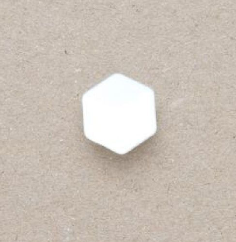 CP20-WHT-18 White 12mm Hexagon Buttons