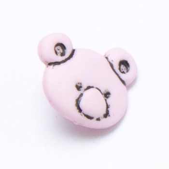 CN11-P Teddy Bear Head - Pink x 10