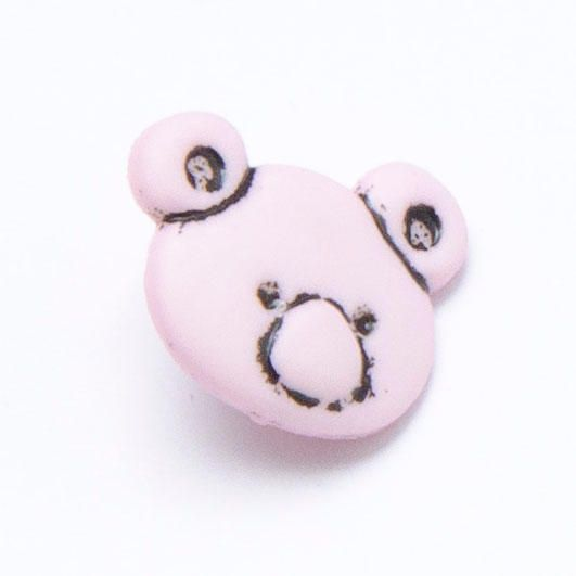 CN11-P Teddy Bear Head - Pink