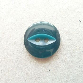 CP16-14-26L Teal 18mm Fish Eye Buttons x 10