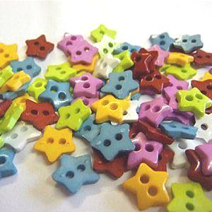 K824-15 Tiny Star Buttons x 10