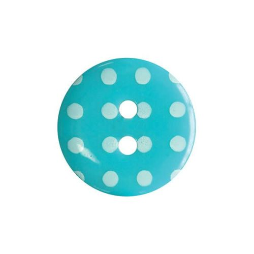 P1724-544-24L Spot Turquoise 15mm Buttons x 10