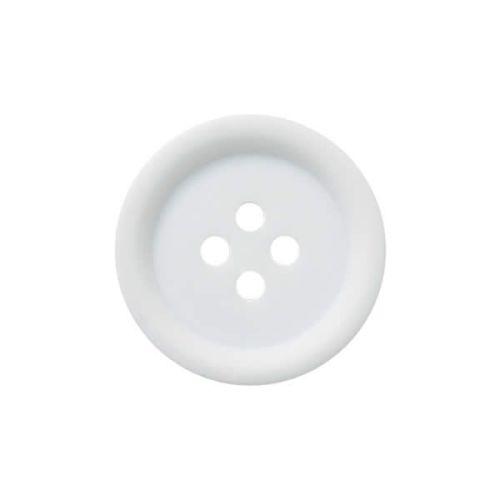 P3536-WHT-40L White 25mm Buttons x 10