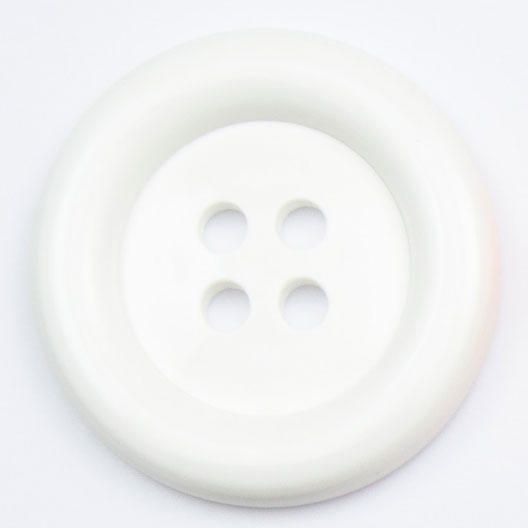 K1859-WHT-60 White Large 38mm Buttons x 10