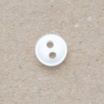 CP110-10L White Doll 5mm Buttons x 10