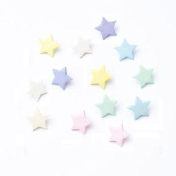 CN41 Pastel Stars Buttons x 10