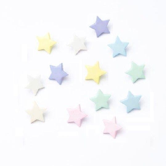 CN41 Stars Buttons x 10