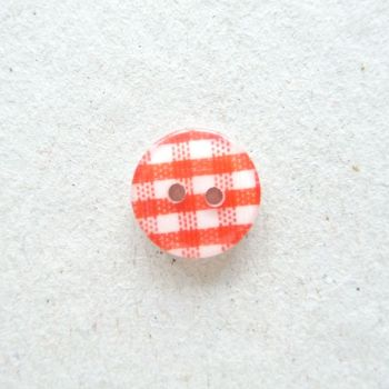 CH200 - Red/White Gingham Buttons x 10