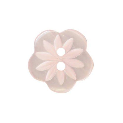 CP8-5-20L Pink Flower 13mm Buttons x 10