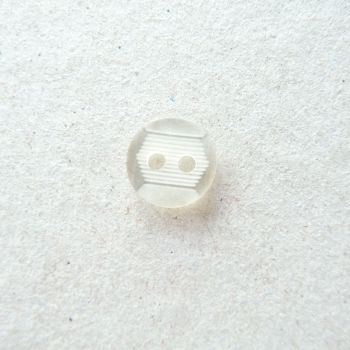 TCS13-16L Etched White 10mm Buttons x 10