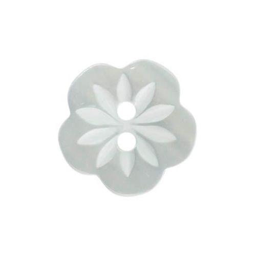 CP8-22-22L Pale Blue Flower 15mm Buttons x 10
