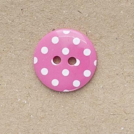 P1724-227-24L Spot Cerise Pink 15mm Buttons x 10