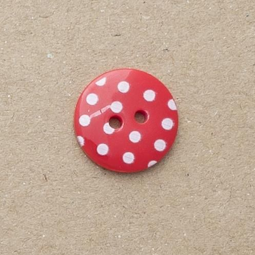 P1724-329-20L Spot red 13mm Buttons x 10
