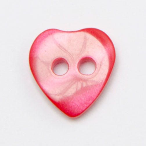 P1423-41-20L Red Heart 13mm Buttons x 10