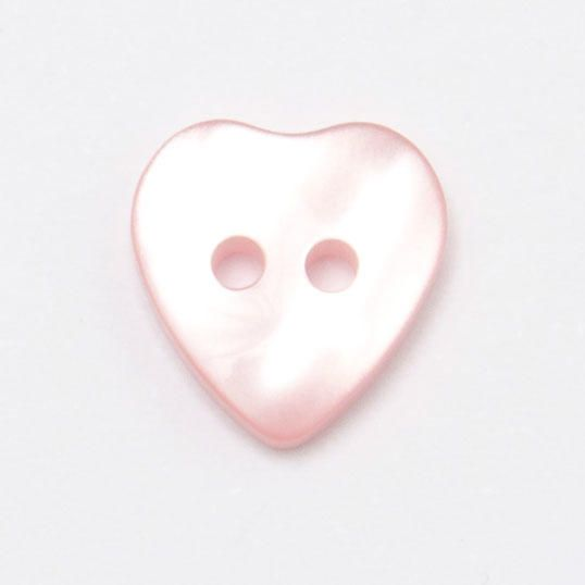 P1423-68-20L Pink Heart 13mm Buttons x 10
