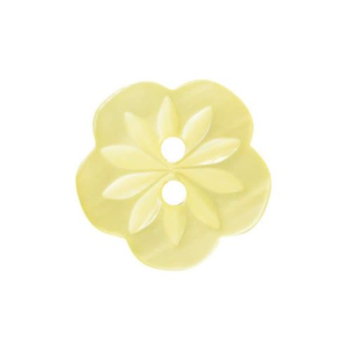 CP8-03-20L Yellow Flower 13mm Buttons x 10