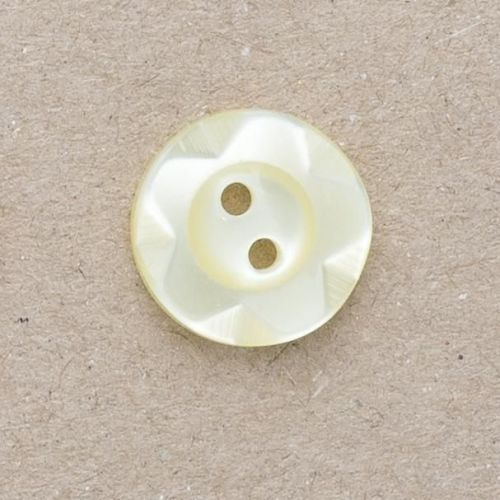 CP177-03-22L Yellow 14mm Wavy Rim Buttons x 10