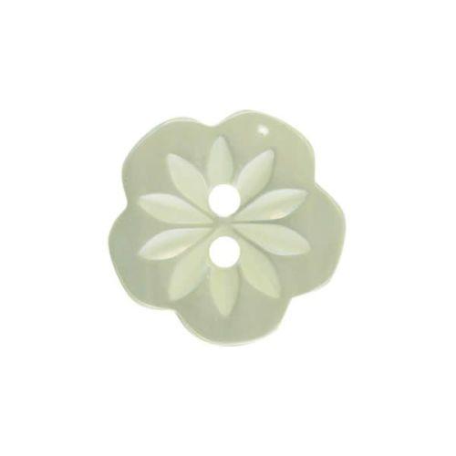 CP8-36-20L Mint Green Flower 13mm Buttons x 10