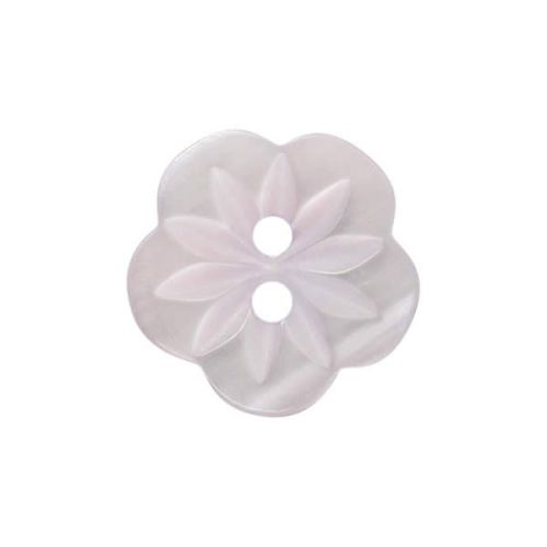 CP8-15-24L Lilac Flower 15mm Buttons x 10