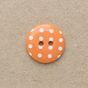 P1724-331-28L Spot Orange 18mm Buttons x 10