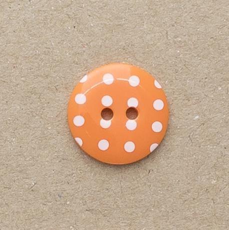 P1724-331-28L Spot Orange 18mm Buttons x 10