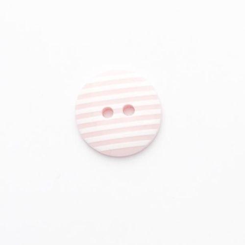 P1725-220-28L Stripe Pink 18mm Buttons x 10