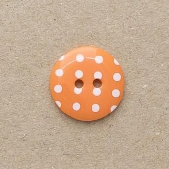 P1724-331-54L Spot Orange 34mm Buttons x 10