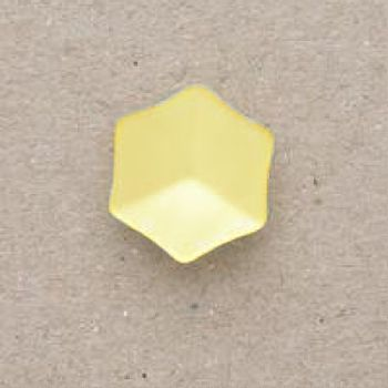 CP20-03-22L Yellow 14mm Hexagon Buttons x 10