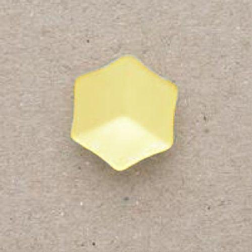 CP20-03-22L Yellow 14mm Hexagon Buttons x 10