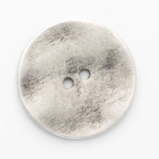 B710-44L  Silver Metal 28mm Button