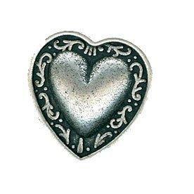 B75618-28L Silver Metal Heart 18mm Button