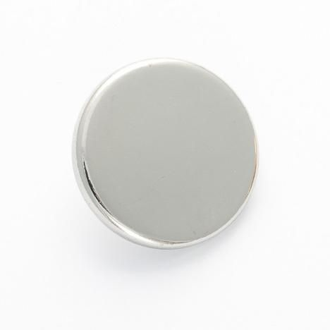 B1062-S-21L Silver Blazer 21mm Button