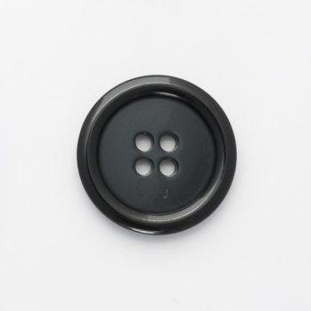 P975-Blk-28L Black Coat 28mm Buttons x 10