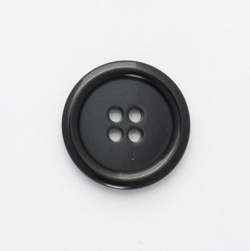 P975-Blk-28L Black Coat 28mm Buttons x 10