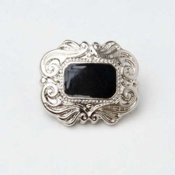 CX17-246L Ornate Enamel Inlay 15mm Buttons x 10
