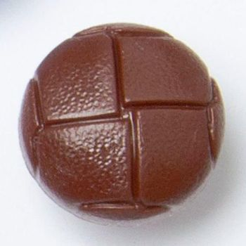 CN500-28L Tan Brown Football 18mm Buttons x 10
