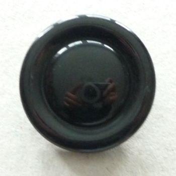 BCL072-Blk-60L Black Coat 38mm Button