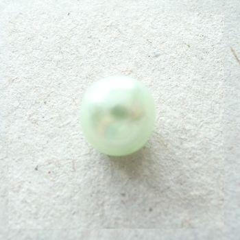 CN55-Mint-12L Mint Green Pearl 8mm Buttons x 10