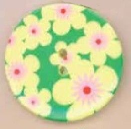 P1825-A-36L Retro Floral 23mm Buttons