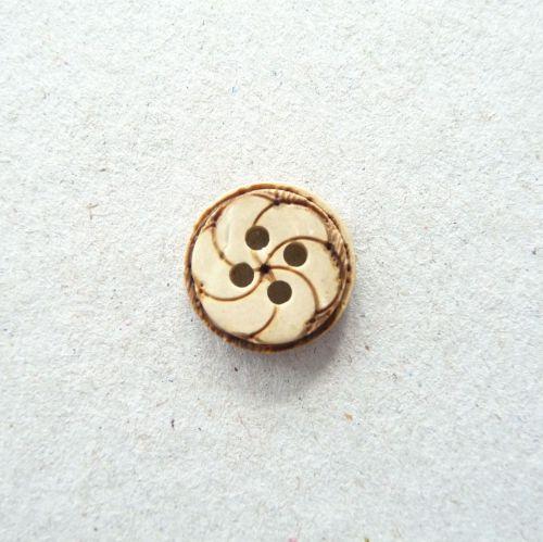 CH006-18L Wooden Spiral 12mm Buttons x 10