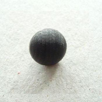 K40-10-18L Black 12mm Domed Buttons x 10