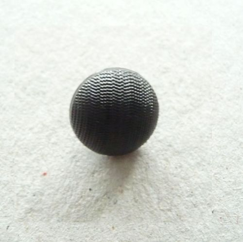 K40-10-18L Black 12mm Domed Buttons x 10