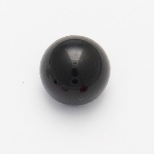 CN1-10-18L Black 12mm Domed Buttons x 10