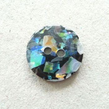 CP19-M-24L Black Opal 15mm Buttons x 10