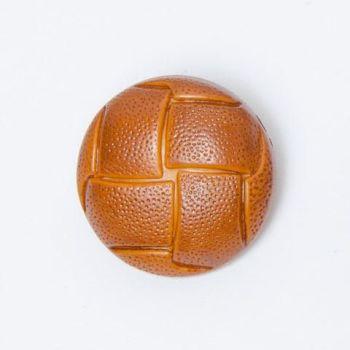 W593-36L Light Tan Brown Football 23mm Buttons x 10