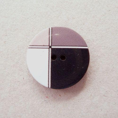 P1994-02-44L Mondrian Desiner 28mm Button