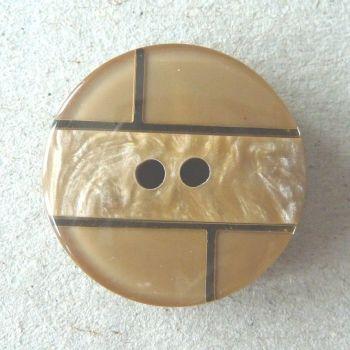 B11136-14-36L Caramel Brown Coat 23mm Italian Button