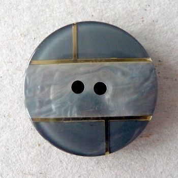 B11136-18-44L Grey Coat 28mm Italian Button
