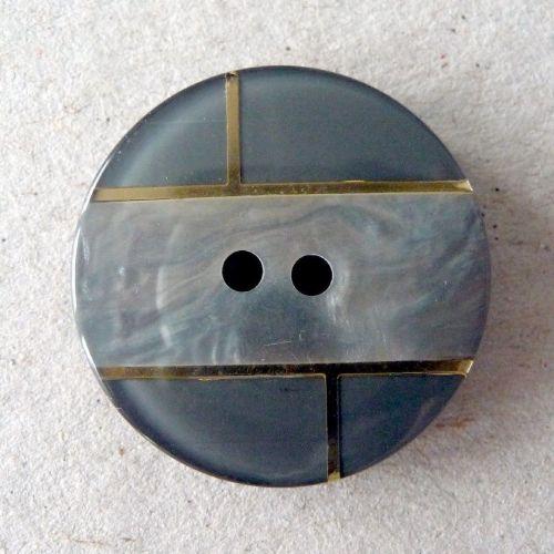 B11136-18-44L Grey Coat 28mm Button